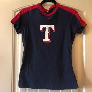 Woman's medium Texas Rangers shirt